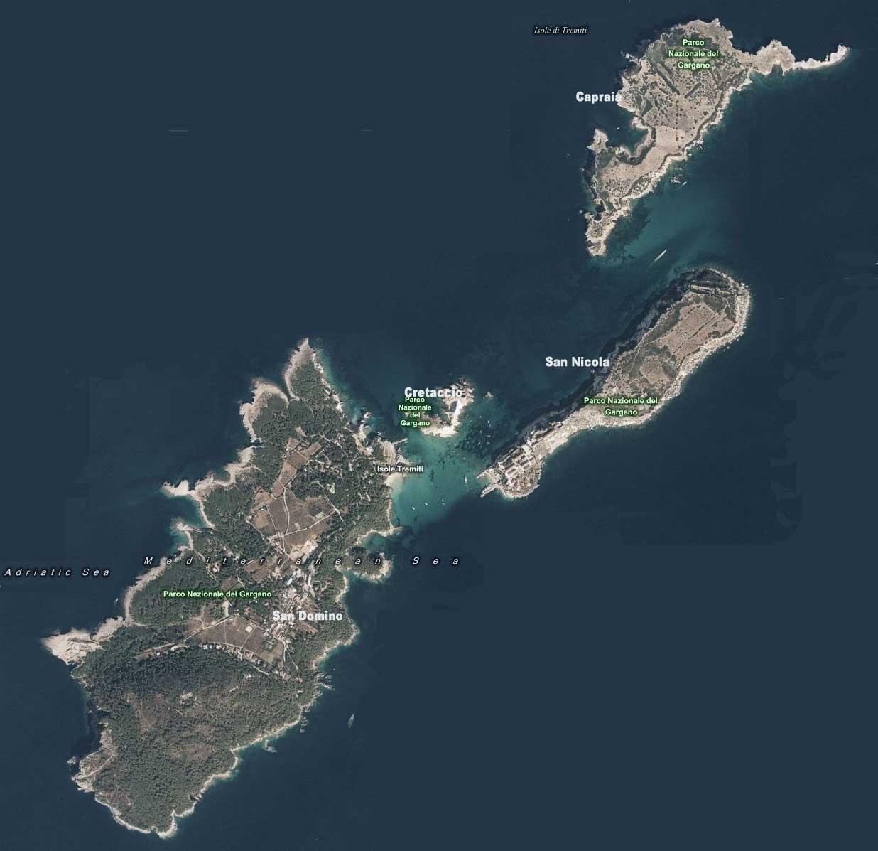 Map Tremiti Islands
